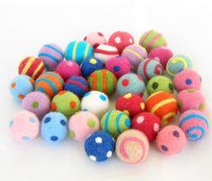 Colorful Felt Beads