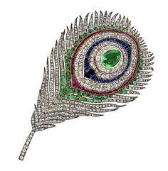Broche plume de paon 1868 Mellerio