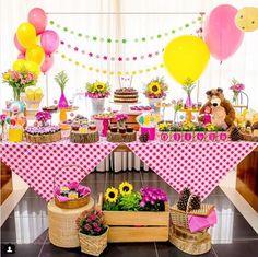 101 fiestas: Fiesta temática de Masha y el oso para una niña de...