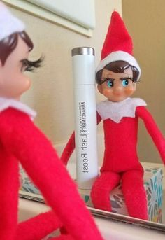 Who is ready for the ELF ON THE SHELF? Looks like someone has been using their Lash Boost during their break. The North Pole knows what's up! Don't be the only one without lashes this holiday season. Rf Lash Boost, Awesome Elf On The Shelf Ideas, Elf On The Self, Naughty Elf, Buddy The Elf, Rodan And Fields, Holiday Fun, Christmas Holidays, Christmas Ideas