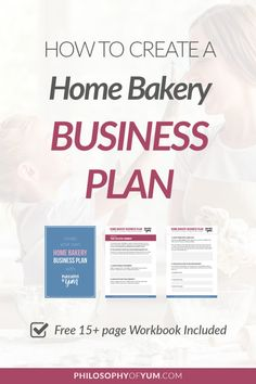 How to Create a Home Bakery Business Plan (With Workbook!) - Business Plan - Ideas of Tips On Buying A House - home bakery business plan Bakery Business Plan, Home Party Business, Food Business Ideas, Free Business Plan, Baking Business, Cake Business, Business Planner, Starting A Business, Business Logo