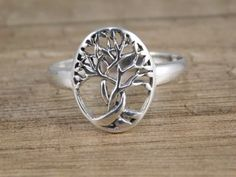 Celtic Twisted Tree of Life Ring