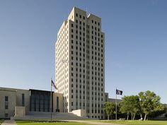 north Dakota state capitol building - bismarck north Dakota - joseph bell deremer, architect - art deco