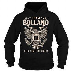 cool BOLLAND T-shirts, I love BOLLAND Surname T-shirt