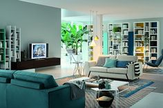 Contemporary Living Room Wall Unit