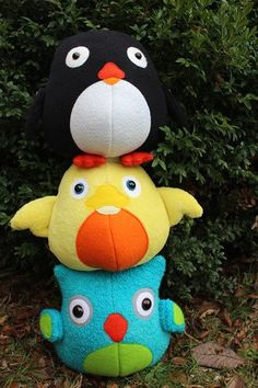 Owl and penguin and duck : Owl sewing pattern, duck sewing pattern, penguin sewing pattern
