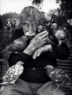 Een vogelliefhebber...