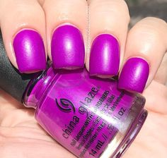 """Summer Reign"" by @chinaglazeofficial from the ""Summer Reign"" collection. A vibrant, very red-based hot purple with understated pink microshimmer. So, this has a similar effect to ""Partridge in a Palm Tree"" in that it's shimmery and dries down to a satin. The good news is that it has a better formula! I used 2 coats here with no Tc to show the effect. I do have one gripe unfortunately- it bubbles like crazy. No matter how thin the coats are and no matter how long you wait in between, it..."