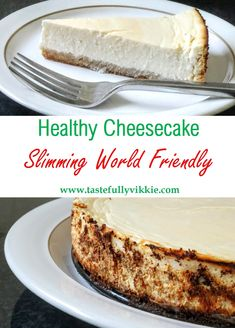 Slimming World New York Style Cheesecake - Serves 8 - Tastefully Vikkie astuce recette minceur girl world world recipes world snacks Slimming World Cheesecake, Slimming World Deserts, Slimming World Puddings, Slimming World Recipes, Slimming World Chocolate Cake, Skinny Cheesecake, Slimming World Breakfast, Healthy Cheesecake Recipes, Healthy Desserts