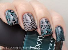Love. Varnish, chocolate and more...: 31 Day Nail Art Challenge - Animal Print Nails!