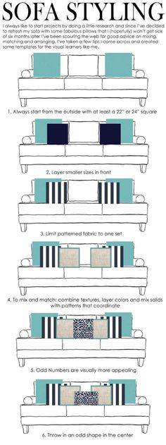 #Sofa Styling template for pillows