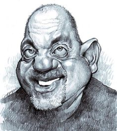 Billy Joel by Jan Op De Beeck, caricature cartoon portrait drawing face stylized