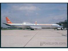 Douglas DC-8-63CF (YV-130C, c/n 46052) of Venezuela Transcarga at Paris Le Bourget in April 1978