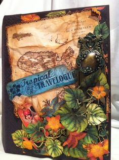 Clare Charvill's Tropcial Travelogue mini album! Just stunning and whisks you away! #graphic45