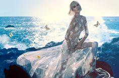 Toni Garrn for Bluemarine's Advertising Campaign | FreeYork