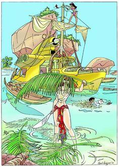 Franka Comic Book Heroes, Comic Books Art, Comic Art, Ex Libris, Atlantis, Detective, Adventure Aesthetic, Ligne Claire, Comic Panels