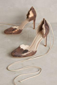 Guilhermina Scalloped D'Orsay Heels - anthropologie.com