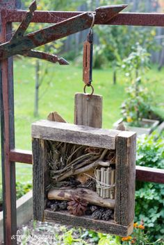 Create a bug hotel to encourage beneficial insects in the garden