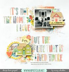 Hip Kit Club DT Project - 2016 October Hip Kits - We R Memory Keepers, Shimmerz, Simple Stories.