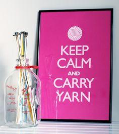 Keep Calm and Carry Yarn (JennieGee)