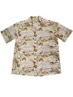 7a5638ce6 KY'S Tropical Fish White Men's Hawaiian Shirt | AlohaOutlet Hawaiian  Dresses, Mens Hawaiian Shirts,