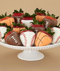 For the strawberry-eating sports lovers in your life. I like this a whole lot and it's the easiest game time dessert to make.