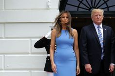 """WASHINGTON, DC - JUNE 19:  U.S. President Donald Trump (R) and first lady Melania Trump pose for photographs with Panamanian President Juan Carlos Varela and his wife Lorena Castillo Garcia de Varela (not pictured) to the White House June 19, 2017 in Washington, DC. According to the White House, the two presidents will hold meetings to talk about how to curb """"transnational organized crime, illegal migration, and illicit substances""""  and the continued political and economic instability in…"""