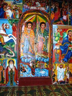 Ethiopia - Door of Bahir Dar Monastery, Lake Tana Ethiopia