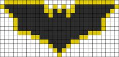 Batman Dark Knight Perler Bead Pattern | Bead Sprites | Characters Fuse Bead Patterns