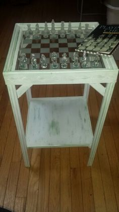 Upcycled chess table