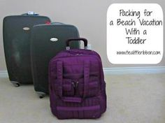 I'd leave out a lot of this but it's a start?  Beach vacation packing lists for toddlers and adults.