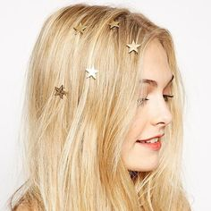 0.27$  Watch now - 1PCS2016 latest gold stars coil spring clips hairpin Hair Jewelry for woman girl head accessories Wedding   #buymethat