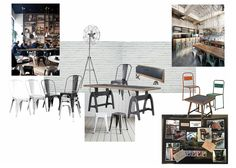 Industrial / School Chair. Iron /Metal Tolix. Group Seating v's Tables for 4 Mix n Match chairs - Eclectic Styling