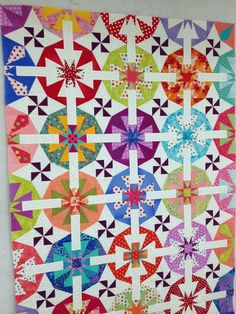 Fairy Floss Quilt made using Bloc-Loc square up rulers-- Half Rectangle, Half Square Triangle, Triangle in a Square, and Kite in a Square.