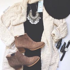I need to get a white cardigan like this!