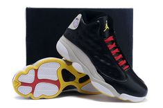 buy online 7cdf0 60211 Discount Air Jordan 13 XIII LA Chris Paul Clippers Black Grey Gold Size  Euro 46