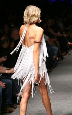 Leather Fringe Dress by MsWood on Etsy, $877.00  Give me this...now.