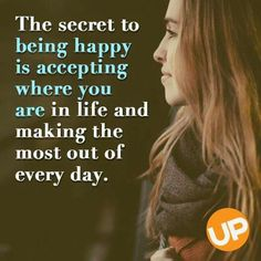 Being Happy Is Accepting Yourself