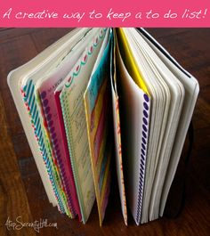 a creative way to keep a to-do list with the Documented Life Project - doodling and washi tape!