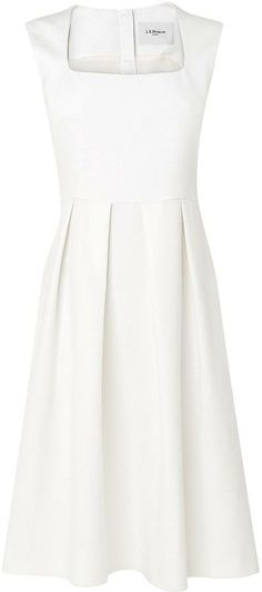 Like: LK Bennett, fit and flare, pleats (Vols Dress   beautiful in a way that sort of hearkens back to the Regency era to me)