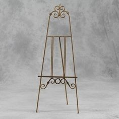 New Large Tall Folding Antique Gold Metal Ornate Easel Ideal For Table Plan  In Home, Furniture U0026 DIY, Home Decor, Display Stands