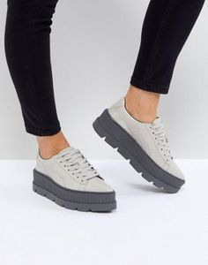 Puma X Fenty Patent Creepers In Gray