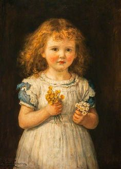 Buttercups And Daisies - Hugh Cameron (1835 – 1918, Scottish) (Brave)