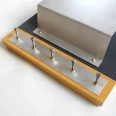 STEEL: mail holder modern industrial wall mounted key rack. 74.00, via Etsy.