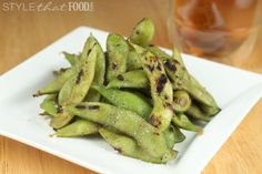 Grilled Edamame with Garlic and Sea Salt - Sea Salt recipes curated by SavingStar Grocery Coupons. Save money on your groceries at SavingStar.com
