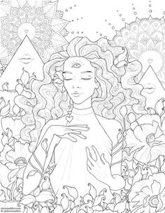 Free fantasy / science fiction coloring page by T Fallon