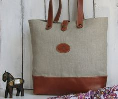 PROMOTIONAL Sale 15 For a Week ONLY  Tote bag / Linen by OSCARBAGS, €68.00