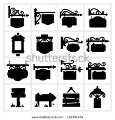 Hanging Sign - shop and store signs, vintage Iron work and decoration by Kapreski, via Shutterstock