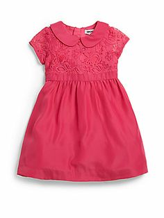 DKNY Toddler's & Little Girl's Two-Piece Lace Dress & Bloomers Set