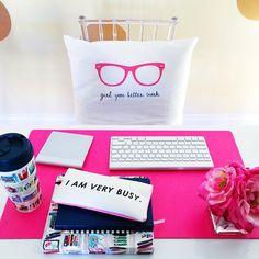 Pink helps me study!